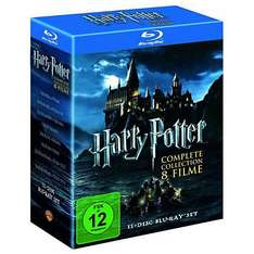 Harry Potter - Komplettbox [Blu-ray, dt. Verkaufsversion] @ alphamovies - Idealo: 41,99 €; 36% Ersparnis