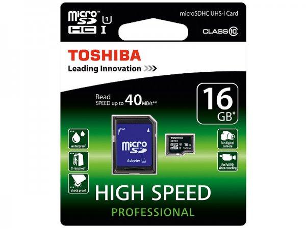 [Pearl] Toshiba 16GB MicroSDHC Class 10 für 6,80€