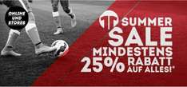 25% Rabatt auf alles bei 11teamsports.de