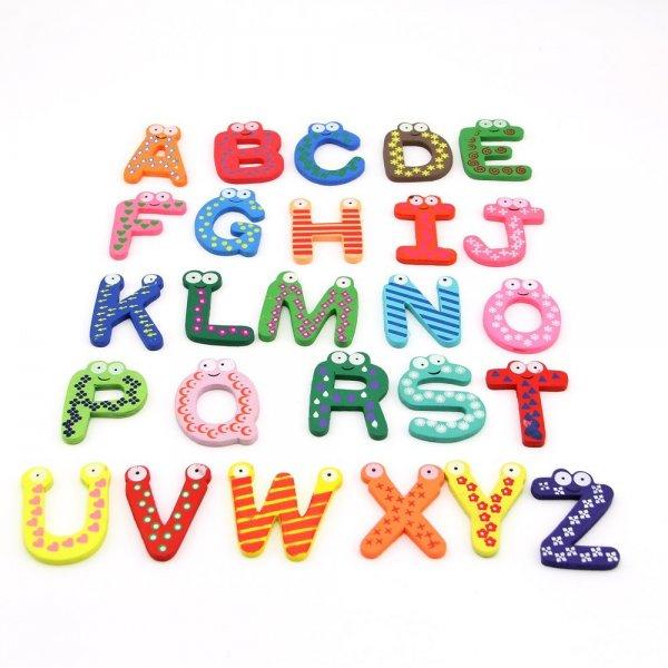 Magnetbuchstaben aus Holz, Buchstaben A-Z, 26 Stück für 3,34€, kostenlose Lieferung bei Amazon