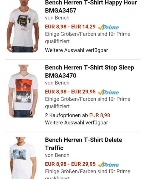 [Amazon] div. Bench T-Shirts für 8,98€