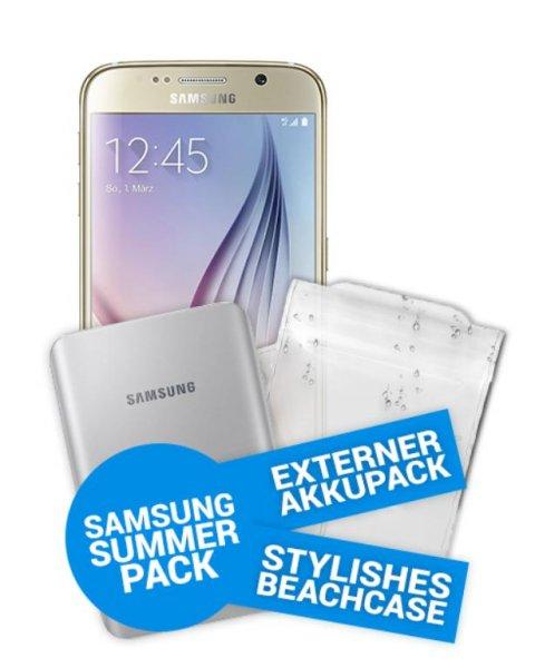 Samsung S6 32GB in  Weiß für 99€ und 19,04€/Monat mit Allnet Flat + 500MB im Otelo Tarif