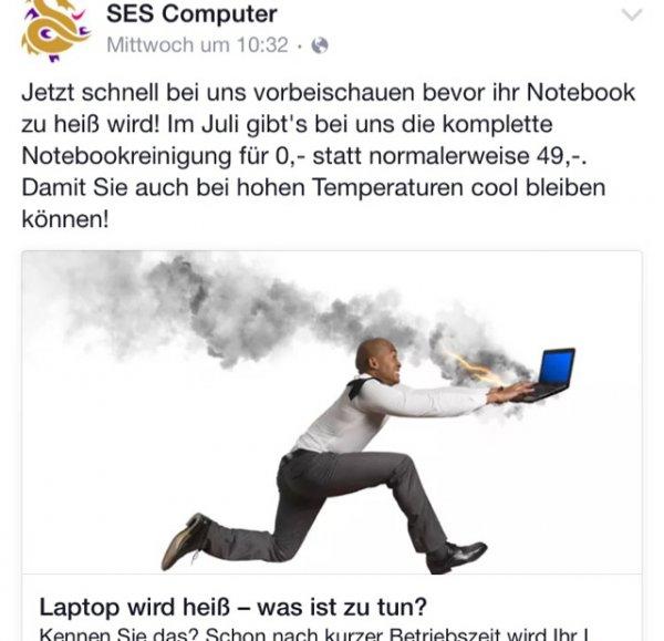 Laptop Reinigung 4free im Juli Aalen/ellwangen