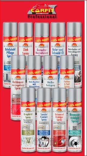[Norma ab Mittwoch 15.7] verschiedene Fett & Pflegesprays 400ml zb. Kettenspray, Zinkspray, Bremsenreiniger, Unterbodenschutz und mehr