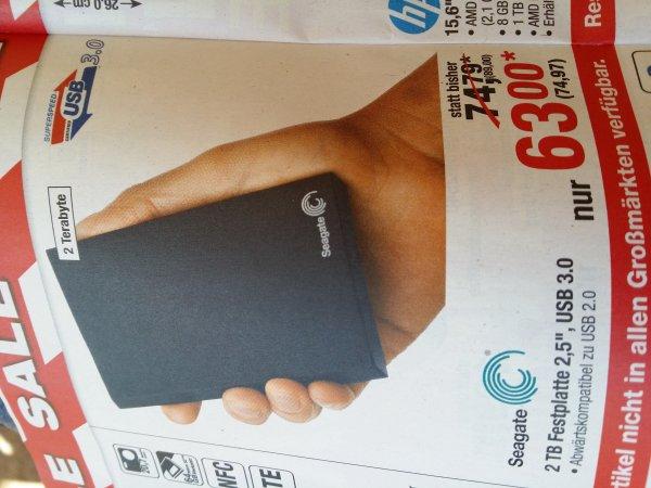 METRO: Externe Festplatte Seagate 2 TB USB 3.0