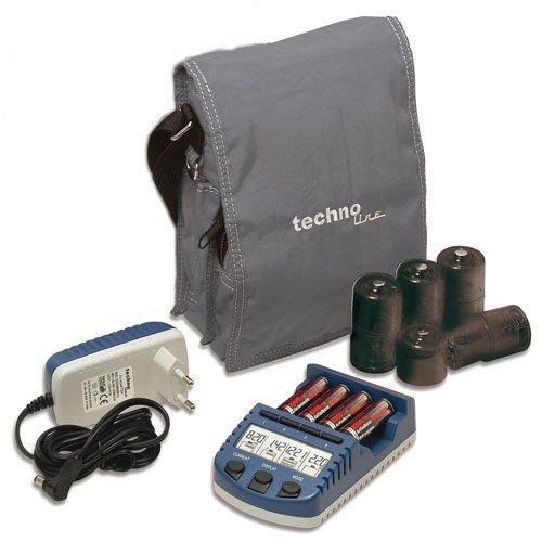 [Amazon] Technoline BC 1000 Set Akku-Ladegerät + 4X Akkus + 4X C-Adapter + 4X D-Adapter + Tasche