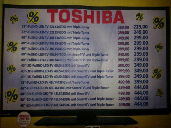 Real auch Online Toshiba 32L1347DG / 32L1543DG