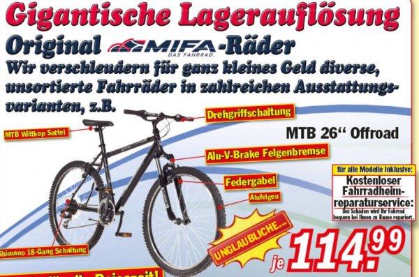 [Zimmermann] 26 MTB Offroad + Kostenloser Fahrradheim-Reparaturservice für nur 114,99€
