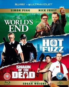 """[UK] Die """"Blood-and-Ice-Cream-Trilogie"""" auch bekannt als """"Three Flavours Cornetto Trilogy"""" mit den Filmen The World's End / Hot Fuzz / Shaun of the Dead  als Blu-ray für €13.39 bei Zavvi"""