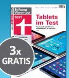 Diverse Zeitschriften kostenlos testen (z.B. Test, cx27t...)