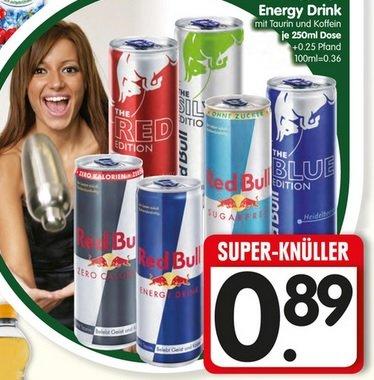 [lokal München?] Red Bull für 89 Cent/Dose @ Edeka Center