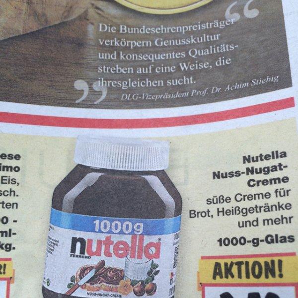 Nutella 1000g für 3,50€