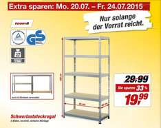 toom baumarkt schwerlastregal 180x92x46 cm mit 175 kg tragkraft boden 19 99 euro 10 euro. Black Bedroom Furniture Sets. Home Design Ideas