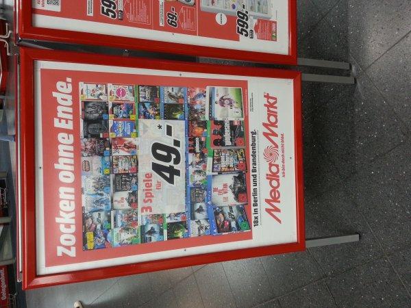 Berlin Brandenburg Media Markt 3 games für 49€