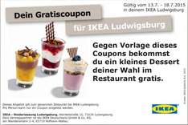 [Lokal] Gratis Dessert bei Ikea Ludwigsburg