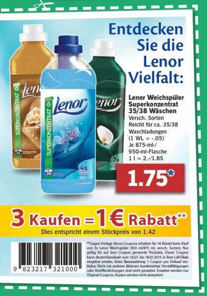 [Lidl] Lenor Weichspüler bei Kauf von 3 (Angebot + Coupon)