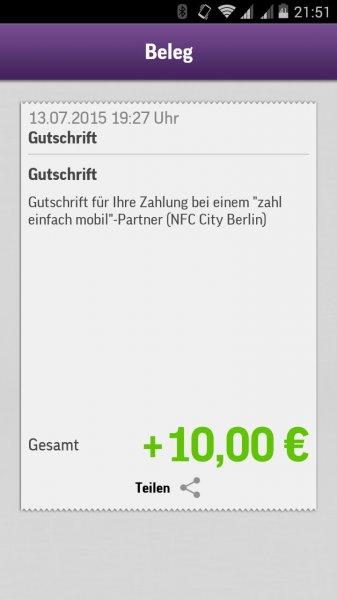 [Lokal Berlin] Aktion verlängert: 10€ Guthaben für ersten mobilen Einkauf mpass, mywallet und Co.