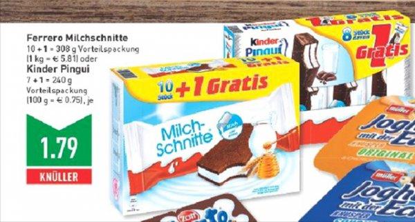 Milchschnitte (11er Pack) / Kinder Pingui 9er Pack) [Lokal/Solingen/Marktkauf]
