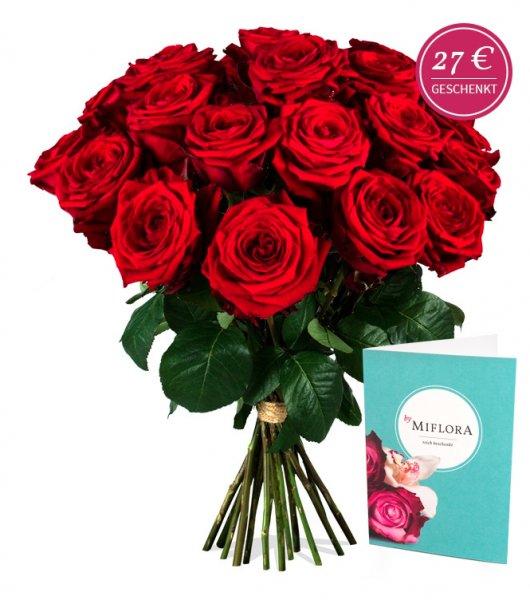 Miflora: bis morgen 20 Red Naomi Rosen für 17,90€ statt 39,95€ (inkl. Versand)