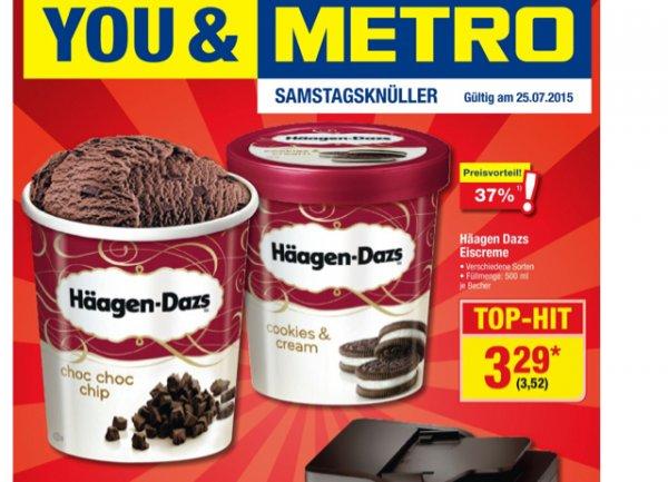 [Metro+Coupies] Deutschlandweit Häagen Dasz 500ml für 2,02€ am 25.07.