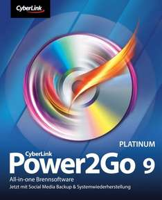 Cyberlink Power2Go 9 Platinum Brennsoftware (Win) - Kostenlos