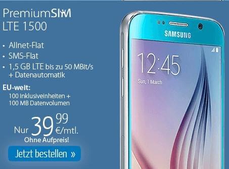 Samsung Galaxy S6 mit All Net Flat und 1,5 GB LTE im O2-Netz
