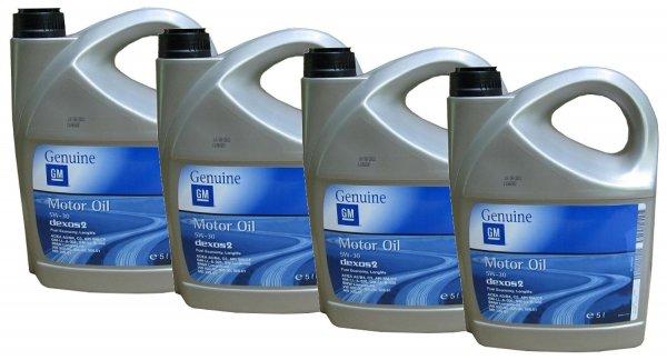 @Amazon: Preisfehler: original GM Longlife Motoröl / Opel GM 5W30 dexos2 Motoröl, 4x5 Liter für 49,44€ mit BMW / VW / Mercedes Freigabe