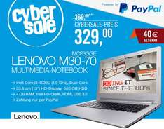 "Lenovo M30-70 - Core i3-4030U, 4GB RAM, 500GB HDD, 13,3"" matt, 1,5kg, Windows 8.1 - 329€ @ Cyberport"