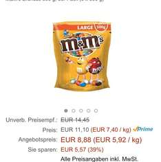 1,5kg M&M Erdnuss für 8,88 € [Amazon Prime Day]