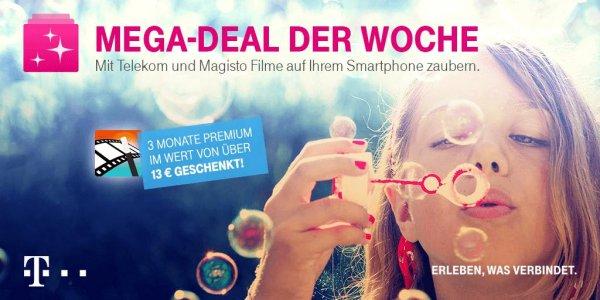 3 Monate kostenlose Premiumfeatures von Magisto - Telekom Mega-Deal