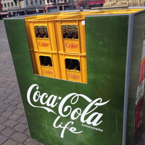 [Mannheim Marktplatz] Gratis Coca Cola Life