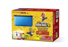 Nintendo 3DS XL - Konsole Blau inkl. New Super Mario Bros 2 für 139€ @ Amazon Prime Day