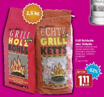 HIT - Grill Holzkohle & Grill Ketts 2,5kg 52% Ersparnis......falls der Sommer doch noch kommt :D