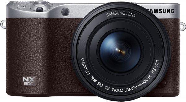 [Amazon Prime Day] Samsung NX500 (braun) Systemkamera inkl. 16-50 mm für 529 €