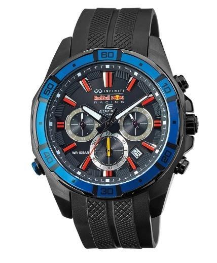 [uhr.de] Casio Edifice Red Bull EFR-534RBK-1AER Herren Edelstahl-Chronograph mit Resinarmband für 116,10€ incl.Versand!