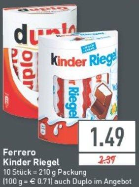 Ratio Ratingen - Kinderschokolade & Duplo  für 1,49€