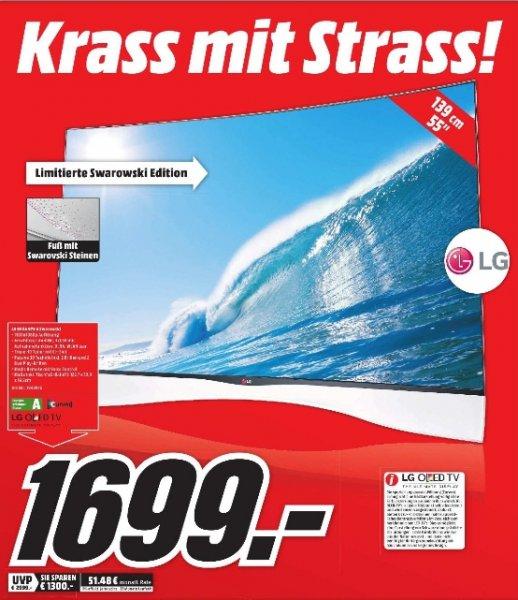 [Lokal Mediamarkt Dortmund-Oespel Indupark] Luxus-Gästeklo TV....LG 55EA975V OLED Full HD TV mit Swarowskisteinen besetzt...für 1699,-€