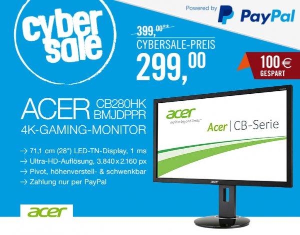 """[Cyberport] ACER CB280HKbmjdppr 71cm (28"""") 4K UHD 299€ statt 399€"""