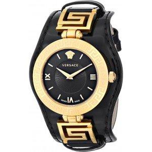 Versace V-Signature VLA020014 Gold Schwarz / Damen Armbanduhr / 466,51 € Ersparnis zum nächst günstigeren Preis