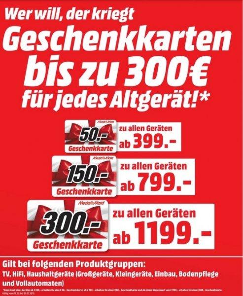 [lokal] Media Markt Rostock SONY KDL-55W807C 1199€ + 300€ Geschenkgutschein