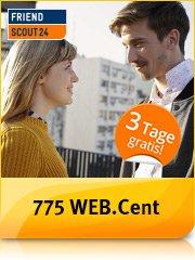 Web.de 775 Web.Cent(Wert 7,75€) für den Abschluss einer kostenlosen 3-Tages Premiummitgliedschaft bei Friendscout24 - keine automatische Verlängerung