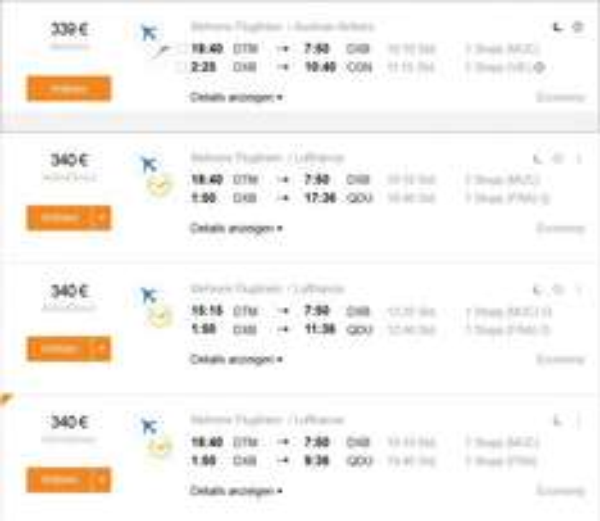 NRW-Dubai Dezember 340€ mit Lufthansa