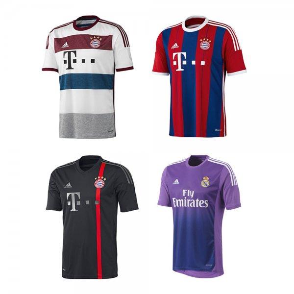 Verschiedene Trikots vom FC Bayern, Real Madrid und der Spanischen Nationalmannschaft bei ebay WOW