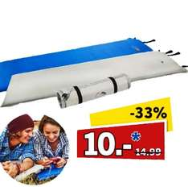 Selbstaufblasende Thermomatte mit angenehmen 5cm Höhe für nur 10€ am heutigen Samstag in vielen Städten bei [Lidl]