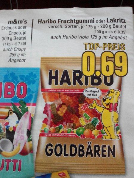 Edeka Rhein Ruhr Haribo Fruchtgummi oder Lakritz
