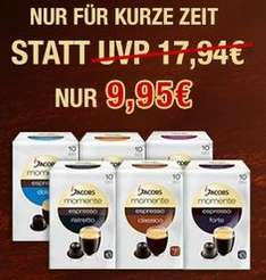 Jacobs Espresso-Angebot - 60x Kapseln für Nespressomaschinen für 9,95€ unter www.Jacobszauber-Shop.com