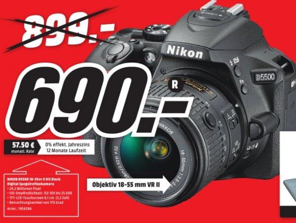 [LOKAL:Mediamärkte in Karlsruhe] Nikon D5500 inkl. 18-55 VR2 Objektiv