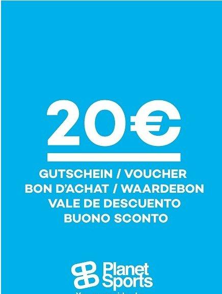 [Planet Sports] 8x20€ Online Gutscheine im Wert von 160,-€ für 130,-€****5x20€ Online Gutscheine im Wert von 100,-€ für 85,-€