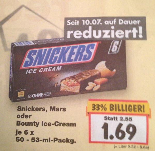 [Kaufland] Mars, Snickers oder Bounty-Icecream für 1,69€ - dauerhaft ab 10.07.