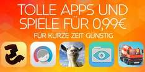 [iOS] Einge Apps kurze Zeit für 0,99€